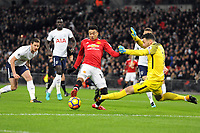 Football - 2017 / 2018 Premier League - Tottenham Hotspur vs. Manchester United<br /> <br /> Jesse Lingard of Man Utd has his shot saved by Hugo Lloris, at Wembley Stadium.<br /> <br /> COLORSPORT/ANDREW COWIE