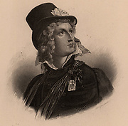 Louis de Verger, Marquis de Larochejacquelin (1777-1815), French Royalist soldier. Commanded the army of La Vendee (1814) maintaining Royalist cause. Engraving