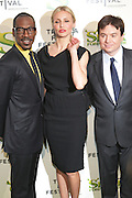 """21 April 2010- New York, NY- l to r: Cameron Diaz, Eddie Murphy and Mike Meyers at The World Premiere of Dreamwork Animation's """" Shrek Forever After """" for the Opening Night of the 2010 Tribeca Film Festival held at the Zeigfeld Theater on April 21, 2010 in New York City."""