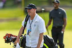 May 29, 2019 - Dublin, OH, U.S. - DUBLIN, OH - MAY 29: Tiger Woods caddie Joe LaCava reacts after making a putt on the ninth hole during the Pro-Am of the Memorial Tournament presented by Nationwide at Muirfield Village Golf Club on May 30, 2018 in Dublin, Ohio. (Photo by Adam Lacy/Icon Sportswire) (Credit Image: © Adam Lacy/Icon SMI via ZUMA Press)