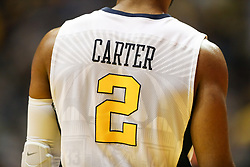 Jan 9, 2018; Morgantown, WV, USA; West Virginia Mountaineers guard Jevon Carter (2) pauses before a play during the first half against the Baylor Bears at WVU Coliseum. Mandatory Credit: Ben Queen-USA TODAY Sports