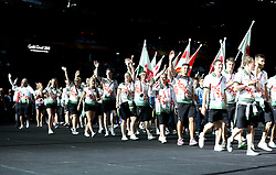 Members of team Northern Ireland arrive at the stadium during the Closing Ceremony for the 2018 Commonwealth Games at the Carrara Stadium in the Gold Coast, Australia.
