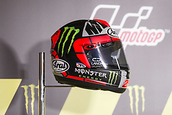 June 8, 2017 - Barcelona, Spain - MotoGP, Maverick Vinales(Spa), Movistar Yamaha Motogp Team helmet during the press conference of MotoGp Grand Prix Monster Energy of Catalunya, in Barcelona-Catalunya Circuit, Barcelona on 8th June 2017 in Barcelona, Spain. (Credit Image: © Urbanandsport/NurPhoto via ZUMA Press)