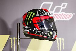 June 8, 2017 - Barcelona, Spain - MotoGP, Maverick Vinales(Spa), Movistar Yamaha Motogp Team helmet during the press conference of MotoGp Grand Prix Monster Energy of Catalunya, in Barcelona-Catalunya Circuit, Barcelona on 8th June 2017 in Barcelona, Spain. (Credit Image: © Urbanandsport/NurPhoto via ZUMA Press)