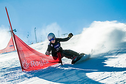 Carolin Langenhorst (GER) competes during Quarterfinals of Women's Parallel Giant Slalom at FIS Snowboard World Cup Rogla 2017, on January 28, 2017 at Course Jasa, Rogla, Slovenia. Photo by Vid Ponikvar / Sportida