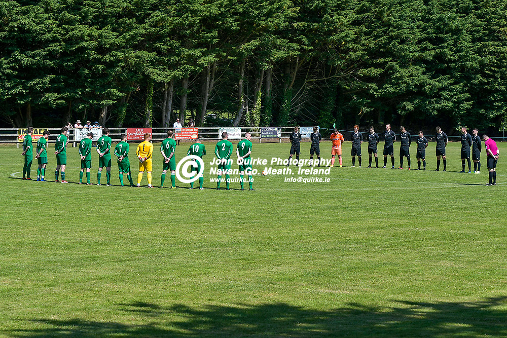 A minutes silence, during the Trim Celtic v Duleek, NEFL (Premier) match in Tully Park, Trim.<br /> <br /> Photo: GERRY SHANAHAN-WWW.QUIRKE.IE<br /> <br /> 18-07-2021