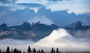 A mound of fog rises from the Wet Mountain Valley to rival the Sangre de Cristo Range at dawn, following a March snow. Presented at Art for the Sangres, double matted in a 20x30 wood frame: $525.