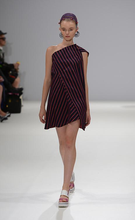 Min Wu fashion show during London Fashion Week SS 2015. 12/09/2014 London, UK. credit: Anne-Marie Michel