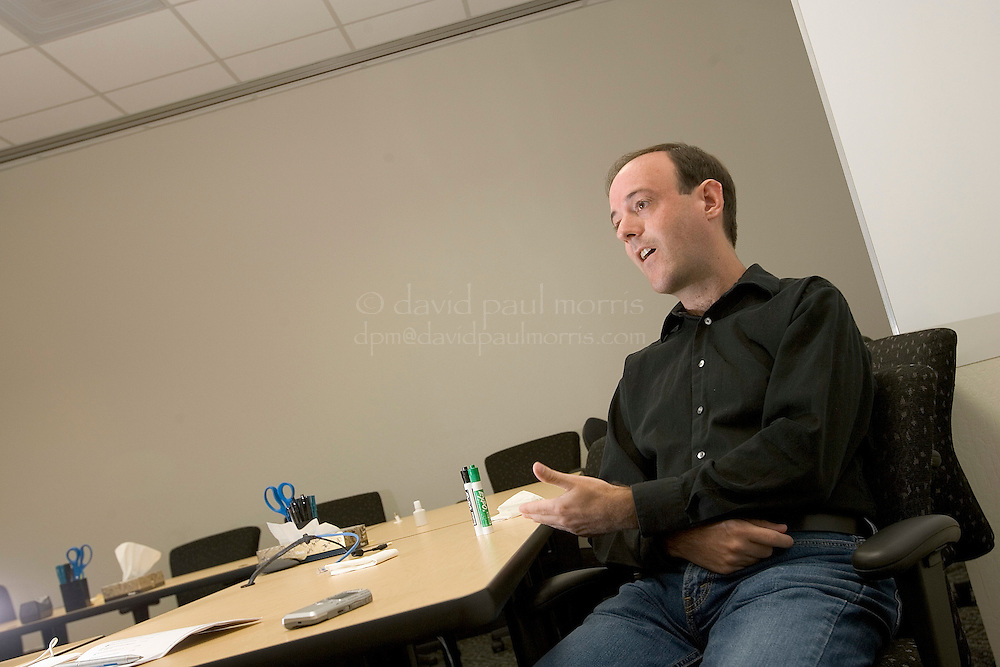 MOUNTAIN VIEW, CA:  Craig Silverstein, Director of Technology and the 3rd person hired at Google during an interview inside the campus of the internet giant Google on November 3, 2005 in Mountain View California. (Photograph by David Paul Morris)
