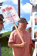 UPS striker age 49 at the protest site.  Minneapolis Minnesota USA