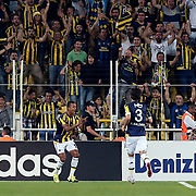 Fenerbahce's Nani (L) and Hasan Ali Kaldirim (R)  during their Turkish super league soccer match Fenerbahce between Bursaspor at the Sukru Saracaoglu stadium in Istanbul Turkey on Sunday 20 September 2015. Photo by Aykut AKICI/TURKPIX