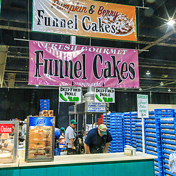 Harrosburg, PA, USA - January 13. 2015: Funnel Cakes Sign at the PA Farm Show