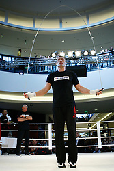 07.09.2011, Centrum Handlowe Magnolia Park, Warschau, POL, WBC, Training Vitali Klitschko und Tomasz Adamek, im Bild Vitali Klitschko mit dem Sprungseil // during a training session before the WBC world title fight between Vitali Klitschko and Tomasz Adamek in Warsaw, Poland on 07/09/2011. EXPA Pictures © 2011, PhotoCredit: EXPA/ Newspix/ Sebastian Borowski +++++ ATTENTION - FOR AUSTRIA/(AUT), SLOVENIA/(SLO), SERBIA/(SRB), CROATIA/(CRO), SWISS/(SUI) and SWEDEN/(SWE) CLIENT ONLY +++++