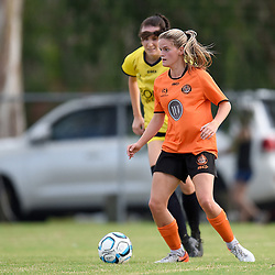 BRISBANE, AUSTRALIA - FEBRUARY 22:  during the NPL Queensland Senior Womens Round 1 match between Eastern Suburbs FC and Gold Coast United at Heath Park on February 23, 2020 in Brisbane, Australia. (Photo by Patrick Kearney)