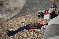 © Licensed to London News Pictures. 02/10/2015. Southsea, Hampshire, UK. People enjoying themselves in the sunny weather in Southsea, Hampshire today, 2nd October 2015. The weekend weather is set to be dry and fine day in the south of England. Photo credit : Rob Arnold/LNP