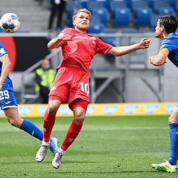 v.l. Robert Skov (Hoffenheim), Sebastian Andersson (Union Berlin), Benjamin Huebner (Hoffenheim).<br /> <br /> Sport: Fussball: 1. Bundesliga: Saison 19/20: 33. Spieltag: TSG 1899 Hoffenheim - 1. FC Union Berlin, 20.06.2020<br /> <br /> Foto: Markus Gilliar/GES/POOL/PIX-Sportfotos<br /> <br /> Foto © PIX-Sportfotos *** Foto ist honorarpflichtig! *** Auf Anfrage in hoeherer Qualitaet/Aufloesung. Belegexemplar erbeten. Veroeffentlichung ausschliesslich fuer journalistisch-publizistische Zwecke. For editorial use only. DFL regulations prohibit any use of photographs as image sequences and/or quasi-video.