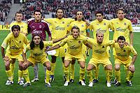 Fotball<br /> Foto: Dppi/Digitalsport<br /> NORWAY ONLY<br /> <br /> UEFA CHAMPIONS LEAGUE 2005/2006<br /> <br /> LILLE OSV v VILLARREAL CF - 27/09/2005<br /> <br /> TEAM VILLARREAL ( BACK ROW LEFT TO RIGHT : RODOLFO ARRUABARENNA / SEBASTIAN VIERA /JUAN MANUEL PENA / QUIQUE ALVAREZ / RIQUELME / JAN KROMKAMP . FRONT ROW : ALESSIO TACCHINARDI / JUAN PABLO SORIN / DIEGO FORLAN / LUCHO / JOSICO )