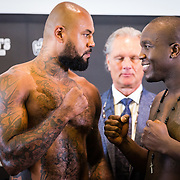 NLD/Amsterdam20160624 - Glory 31 / Weigh in, Hesdy Gerges en Ismael Londt