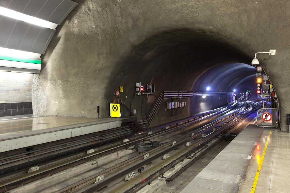 Access to subway tunnel at Metro de Santiago, Santiago de Chile