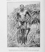 A Zulu Warrior From the Book '  Britain across the seas : Africa : a history and description of the British Empire in Africa ' by Johnston, Harry Hamilton, Sir, 1858-1927 Published in 1910 in London by National Society's Depository
