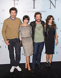 (LtoR) Andres Velencoso, Maribel Verdu, Daniel Grao and Clara Lago attend a photocall for 'Fin', Room Mate Oscar Hotel, Madrid, Spain, November 20, 2012. Photo by Oscar Gonzalez / i-Images...SPAIN OUT