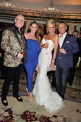 Left to right, JOHN CAUDWELL, DANIELLE O'HARA, CLAIRE CAUDWELL and JAMIE O'HARA at a birthday dinner for Claire Caudwell for family & friends held at The Dorchester, Park Lane, London on 24th January 2014.