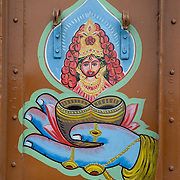 Truck decoration on the grand trunk road near Kolkata, India