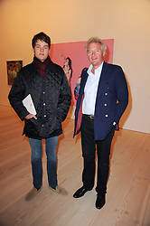 Left to right, COUNT CASPER VON BISMARCK and his father COUNT LEOPOLD VON BISMARCK at the BRIC art sale preview (Brazil, Russia, India & China, the acronym BRIC here refers to the burgeoning contemporary art practices within these four countries.) organised by Phillips de Pury & Company at The Saatchi Gallery, London on 17th April 2010.