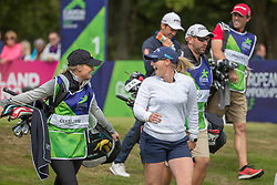 Great Britain's Holly Clyburn walks off the tee after teeing off at the 1st hole during day ten of the 2018 European Championships at Gleneagles PGA Centenary Course.