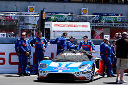 June 17, 2017 - Le Mans, Sarthe, France - FORD CHIP GANASSI TEAM USA MICHELIN FORD GT.RYAN BRISCOE (AUS) on the grid before the race of the 24 hours of Le Mans on the Le Mans Circuit - France (Credit Image: © Pierre Stevenin via ZUMA Wire)