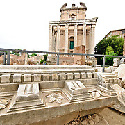ROME, Italy - Roman ruins on the Foro Romano in Rome, Italy.