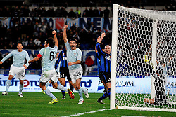 03.12.2010, Stadio Olimpico, Rom, ITA, Serie A, Lazio Rom vs Inter Mailand, im Bild Esultanza di GIuseppe BIAVA dopo il gol.Giuseppe BIAVA celebrates scoring., EXPA Pictures © 2010, PhotoCredit: EXPA/ InsideFoto/ Andrea Staccioli         +++++ ATTENTION - FOR AUSTRIA/AUT, SLOVENIA/SLO, SERBIA/SRB an CROATIA/CRO CLIENT ONLY +++++