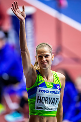 BIRMINGHAM, ENGLAND - MARCH 02: Anita Horvat of Slovenia during round 1 of the Women's 400m at the IAAF World Indoor Championships at Arena Birmingham on March 2, 2018 in Birmingham, England. Photo by Ronald Hoogendoorn / Sportida