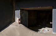 The Hague, South-Holland/Netherlands - 180216: World War Two bunkers in the dunes.