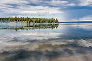 Yellowstone Lake in Yellowstone National Park, Wyoming.