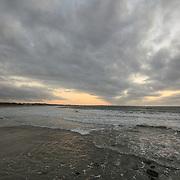Today's Fall Sunrise  at Narragansett Town Beach, Narragansett, RI,  October  13, 2013. #fall #newengland #rhodeisland #beach #sunrise #waves