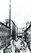 Siemens factory, Markgrafen Strasse, Berlin, c1900.  Siemens Brothers produced electrical telegraphy equipment from 1847 and through the nineteenth century expanded their electrical engineering works.