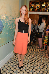 MORWENNA LYTTON COBBOLD at the Grand opening of Library - a new members club at 112 St Martin's Lane, London on 25th June 2014.