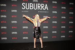 Carlotta Antonelli at the Red Carpet of the series Suburra 2 at Circolo Degli Illuminati in Rome, Italy, 20 February 2019 .Dress: MSGM  (Credit Image: © Lucia Casone/Soevermedia via ZUMA Press)