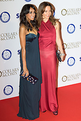 "Battersea, London, November 3rd 2016.  Celebrities and their dogs attend The Evolution at Battersea Park to attend The Battersea Dogs and Cats Home ""Collars and Coats Ball"". PICTURED: Jackie St Clair and Kim Frickleton (R)"