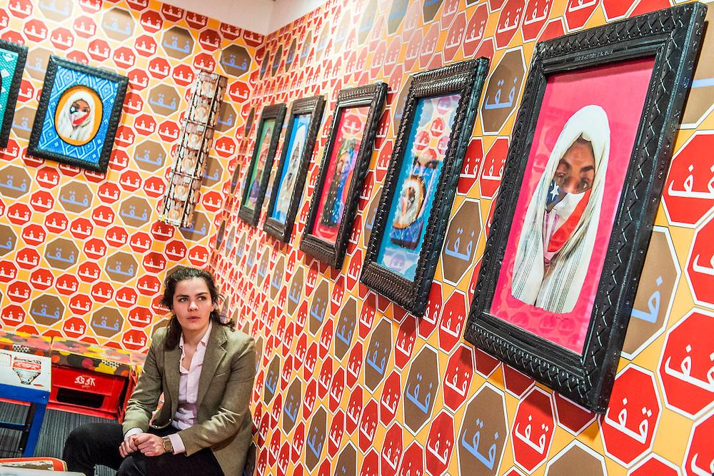 An installation byHassan Hajjaj as part of Photo50. London Art Fair opens at the Business Design Centre, Islington, London.