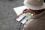 recreational artist painting local scenery Japan Kamakura