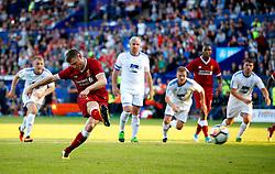 James Milner of Liverpool scores the opening goal from the penalty spot - Mandatory by-line: Matt McNulty/JMP - 12/07/2017 - FOOTBALL - Prenton Park - Birkenhead, England - Tranmere Rovers v Liverpool - Pre-season friendly