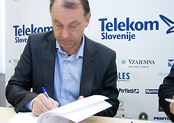Crtomir Spacapan when Slovenian athletes and their coaches sign contracts with Athletic federation of Slovenia for year 2009,  in AZS, Ljubljana, Slovenia, on March 2, 2009. (Photo by Vid Ponikvar / Sportida)
