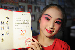 August 16, 2017 - Huainan, Huainan, China - Huainan, CHINA-16th August 2017: (EDITORIAL USE ONLY. CHINA OUT) ..Zhao Zhiting, a 12-year-old girl, has been learning Peking Opera for six years in Huainan, east China's Anhui Province, August 16th, 2017. Zhao is keen on traditional Chinese culture of Peking Opera and tries hard to inherit it. (Credit Image: © SIPA Asia via ZUMA Wire)