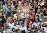 Football - 2018 / 2019 Premier League - Fulham vs. Crystal Palace<br /> <br /> Banner in support of Aleksandar Mitrovic (Fulham FC) at Craven Cottage<br /> <br /> COLORSPORT/DANIEL BEARHAM