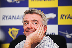 © Licensed to London News Pictures. 04/09/2012. London,UK.Michael O'Leary, Ryanair Chief Executive, taking part at a press conference in London.Ryanair launches today a new iPhone/iPad app. Photo credit : Thomas Campean/LNP...
