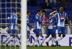 November 30, 2017 - Barcelona, Catalonia, Spain - Espanyolplayers celebration during the Copa del Rey match between RCD Espanyol and CD Tenerife,i n Barcelona, on November 30, 2017. (Credit Image: © Joan Valls/NurPhoto via ZUMA Press)