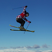 Rose Battersby, New Zealand, in action in the Women's Slopestyle Finals during The North Face Freeski Open at Snow Park, Wanaka, New Zealand, 2nd September 2011. Photo Tim Clayton....
