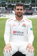 Lancashires Stephen Parry during the Lancashire County Cricket Club at the Emirates, Old Trafford, Manchester, United Kingdom on 3 April 2019.